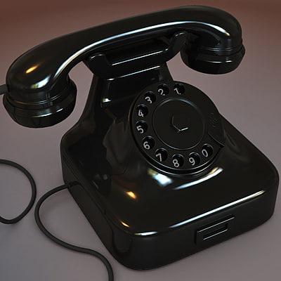 classic phone 3d model