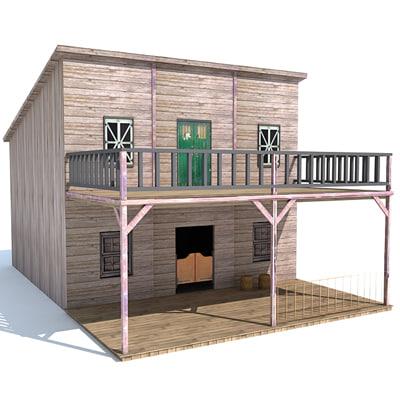 3d western house model