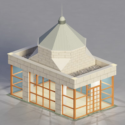 multipurpose building 3d c4d