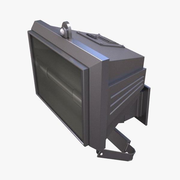 3d exterior floodlight security light