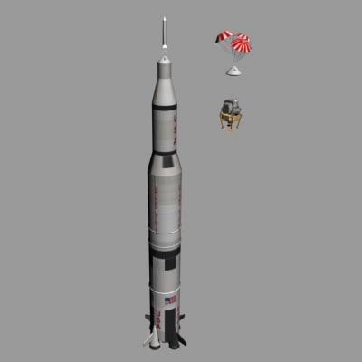saturn rocket 3d max