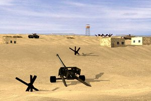 3ds max war scene