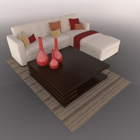 LIVING ROOM SET SOFA TABLE ACCESSORIES SALA COMPLETA