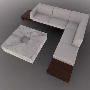 c4d sofa coffee table