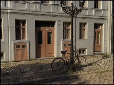 european street buildings 3d model