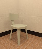 chair restaurant dining 3d model