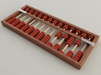 abacus counting 3d model