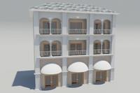 3d 3 story building prop