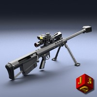 Sniper rifle Barrett M95 with optical sight.
