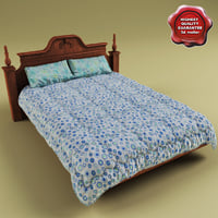 Bed with coverlet V2