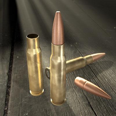 maya rifle cartridge 7 62x51mm