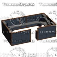 bullpen cubicle 3d model
