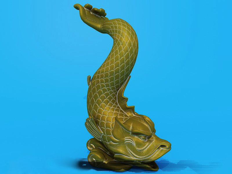 statue fish 3d model