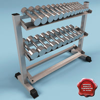 dumbell rack obj