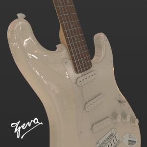 3d obj fender stratocaster white