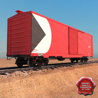 goods wagon 3d model