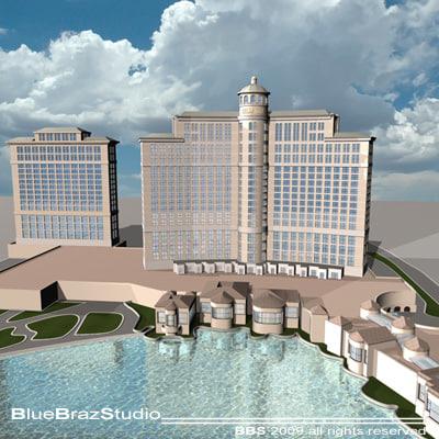 bellagio hotel las vegas c4d