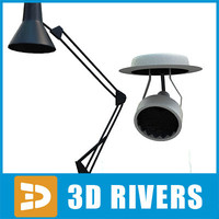 3d lamps studio artist