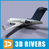 bombardier challenger 605 3d max