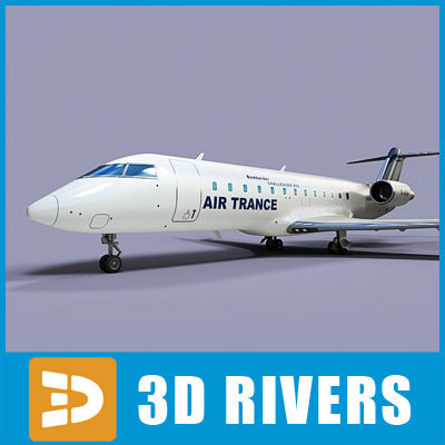 3d bombardier challenger 850 model