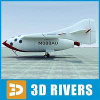 spaceshipone space 3d model