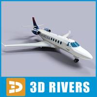gulfstream g150 jets 3d model