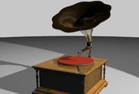 3d phonograph model