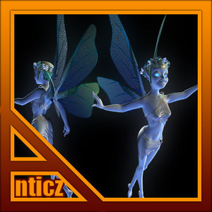 3ds max blue faery girl games