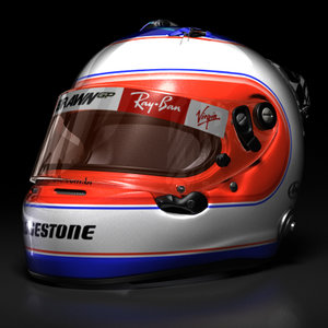 rubens barrichello helmet 2009 3d model