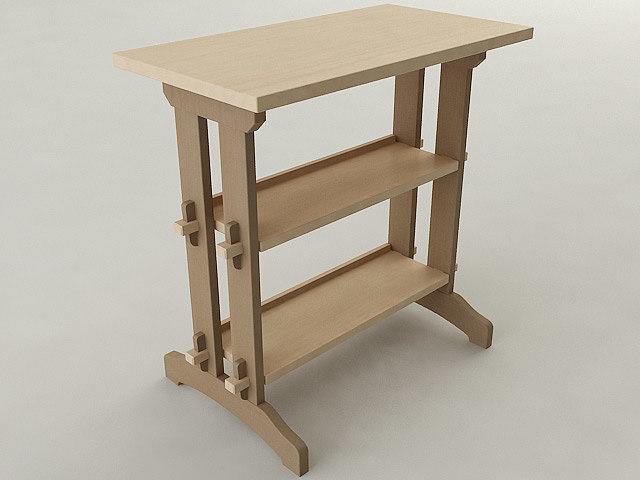 shop table 3d max