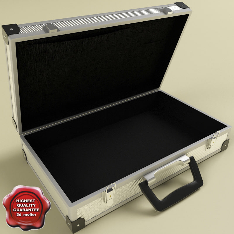 3d model suitcase modelled contains