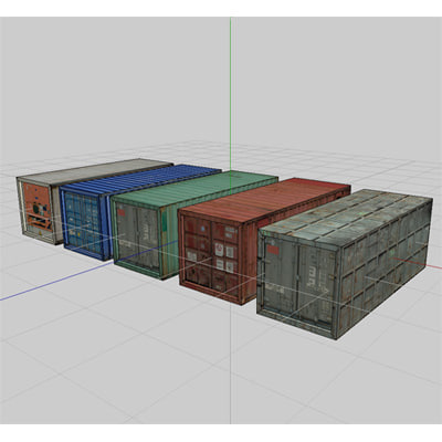 3ds shipping containers cargo