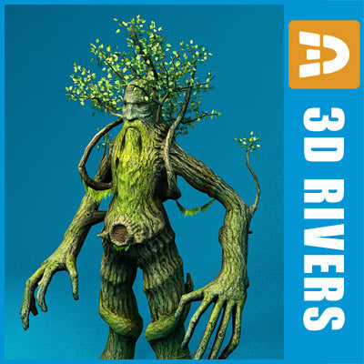 treebeard ent trees 3d model