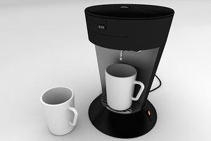 3d coffee machine tableware 017 model