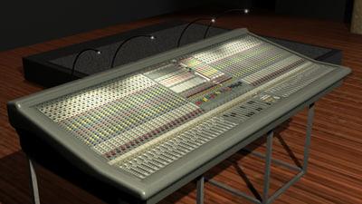 3d model midas xl-250 mixing console