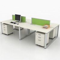 3d workstation office model