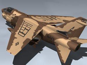 3d 3ds a-7e corsair ii desert storm