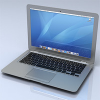 apple macbook air 3d model