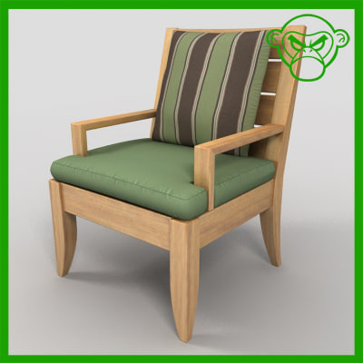 3d arm chair