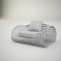 max basketwork armchair