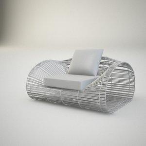 max basketwork armchair
