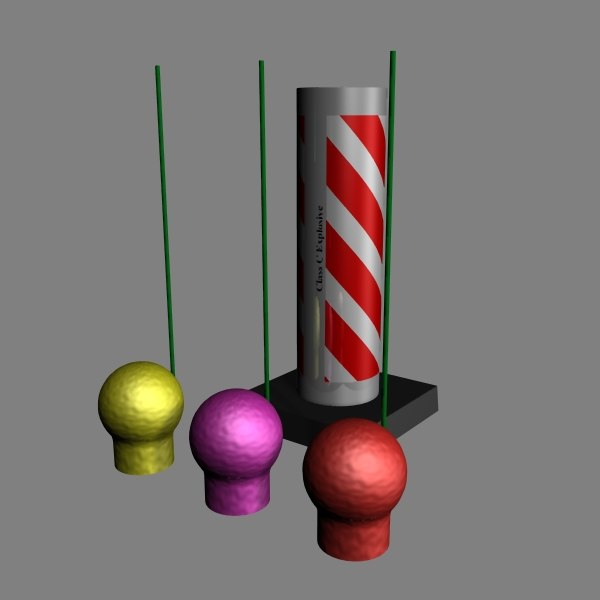 3d model artillery shell firework
