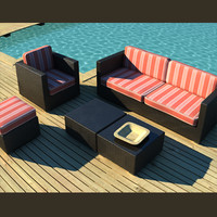 3d model of luxury outdoor furniture garden