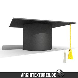 3ds max square academic graduation cap