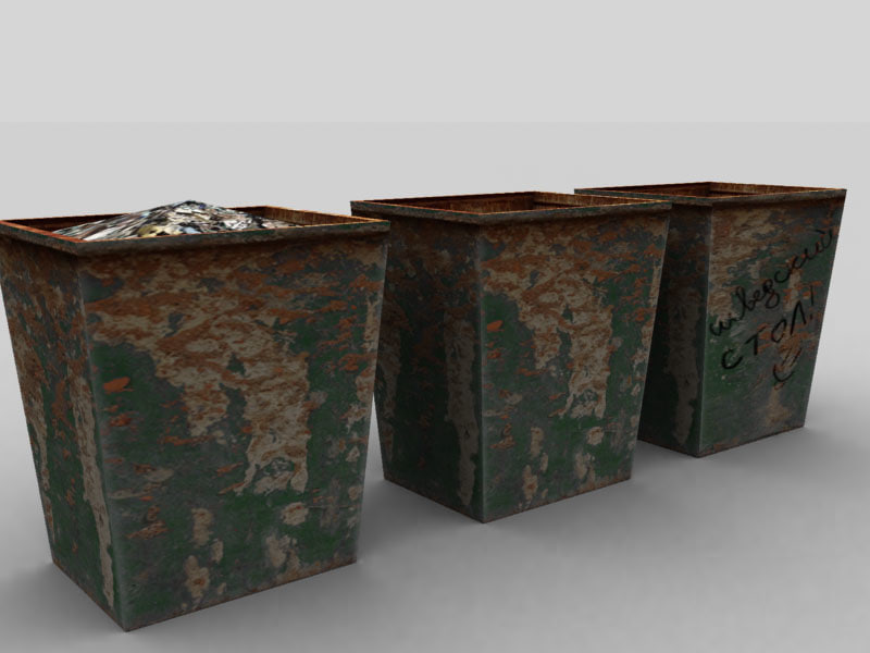 3ds max garbage waste container