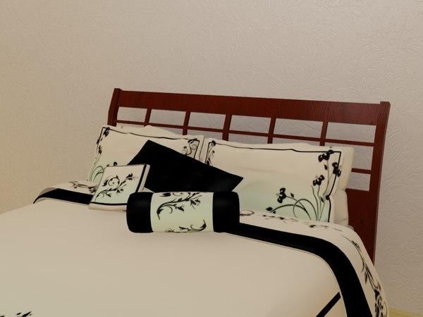 3d bed comforter pillows