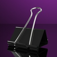 3d model of black binder clips accurate