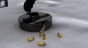 tommy gun bullets 3d model