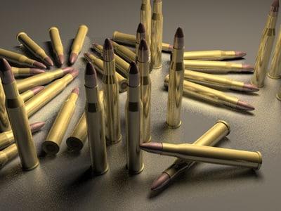 3d model 302 bullets