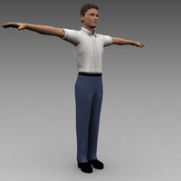 3ds max character male